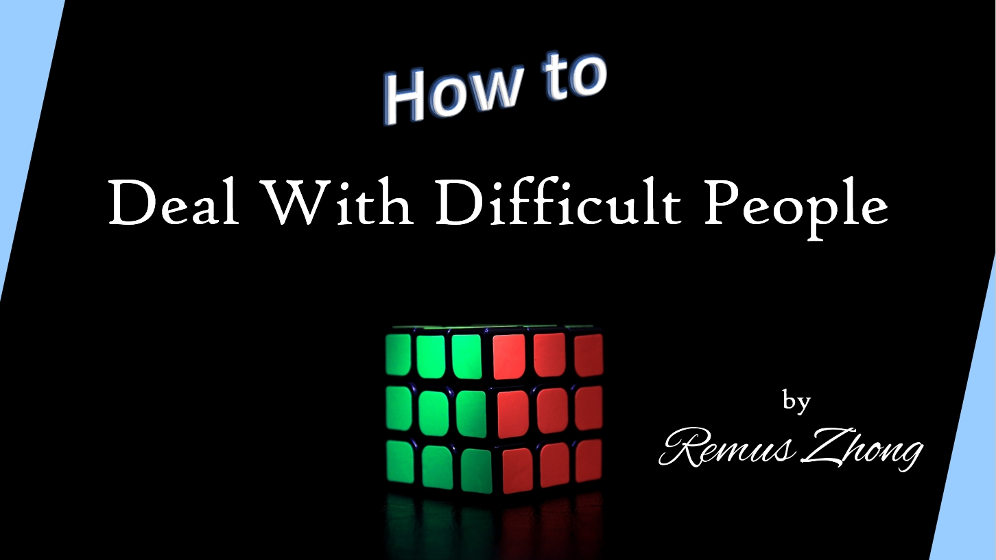 How to Deal With Difficult People Slide 01