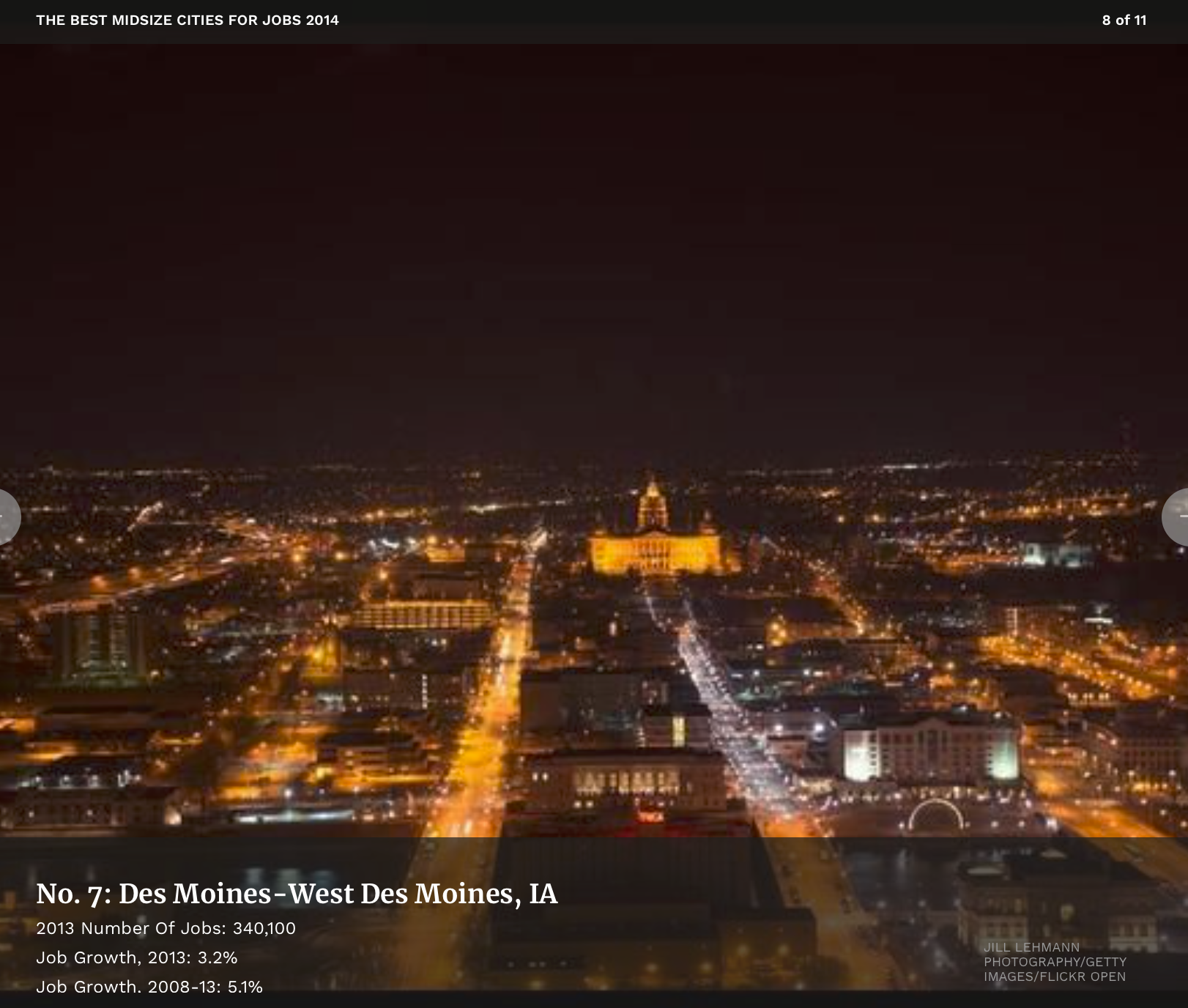 Forbes - Best mid-sized Cities for 2014: Des Moines