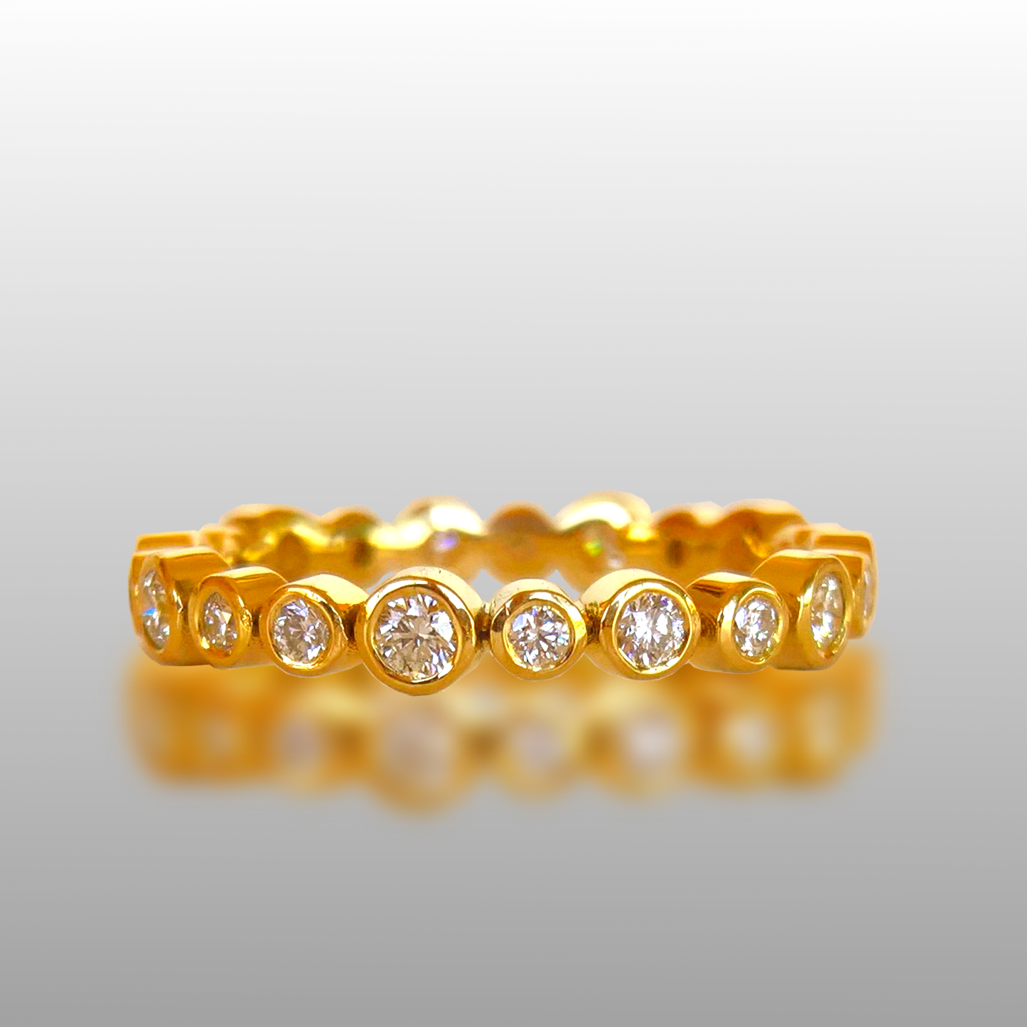 Diamond Eternity Engagement Ring 'Momenti' (Perfect for Stacking) by Pratima Design Fine Art Jewelry