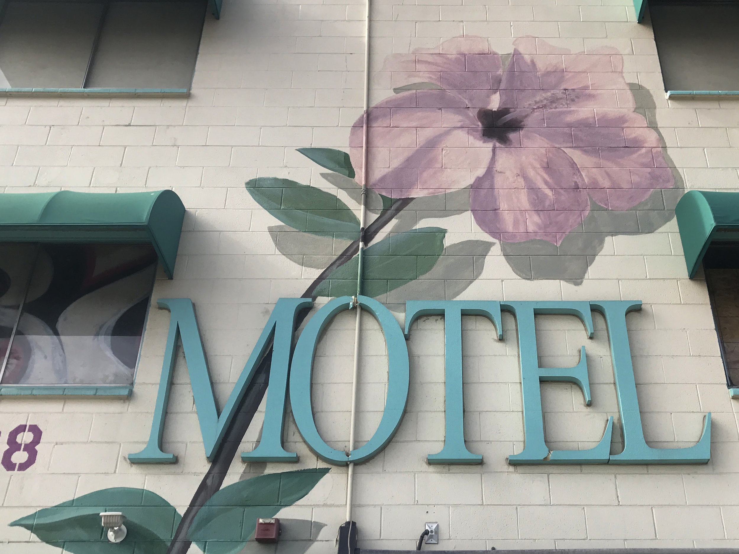 The now-boarded up Tod's Motor Motel.