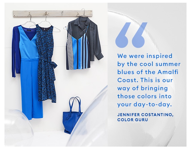 Banana Republic Color Guru In-House Jenn Costantino Ocean Blues Summer 2018 Amalfi