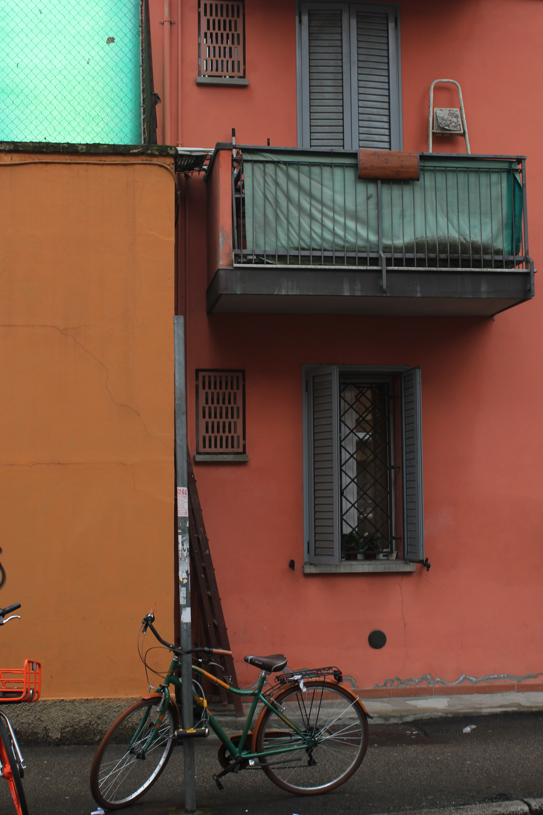 Bologna Italy Color Palette Bicycle