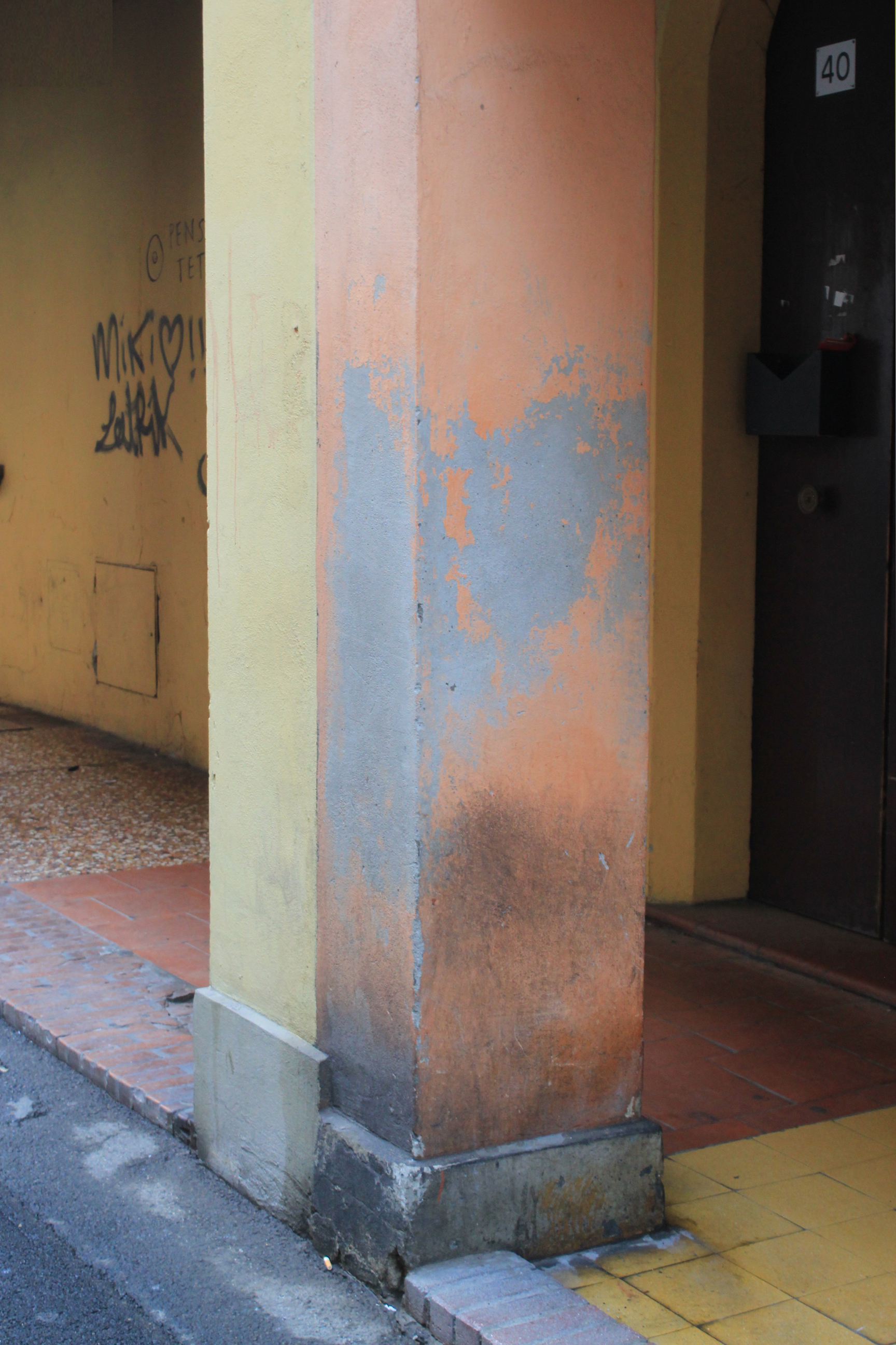 Bologna Italy Orange Yellow Paint