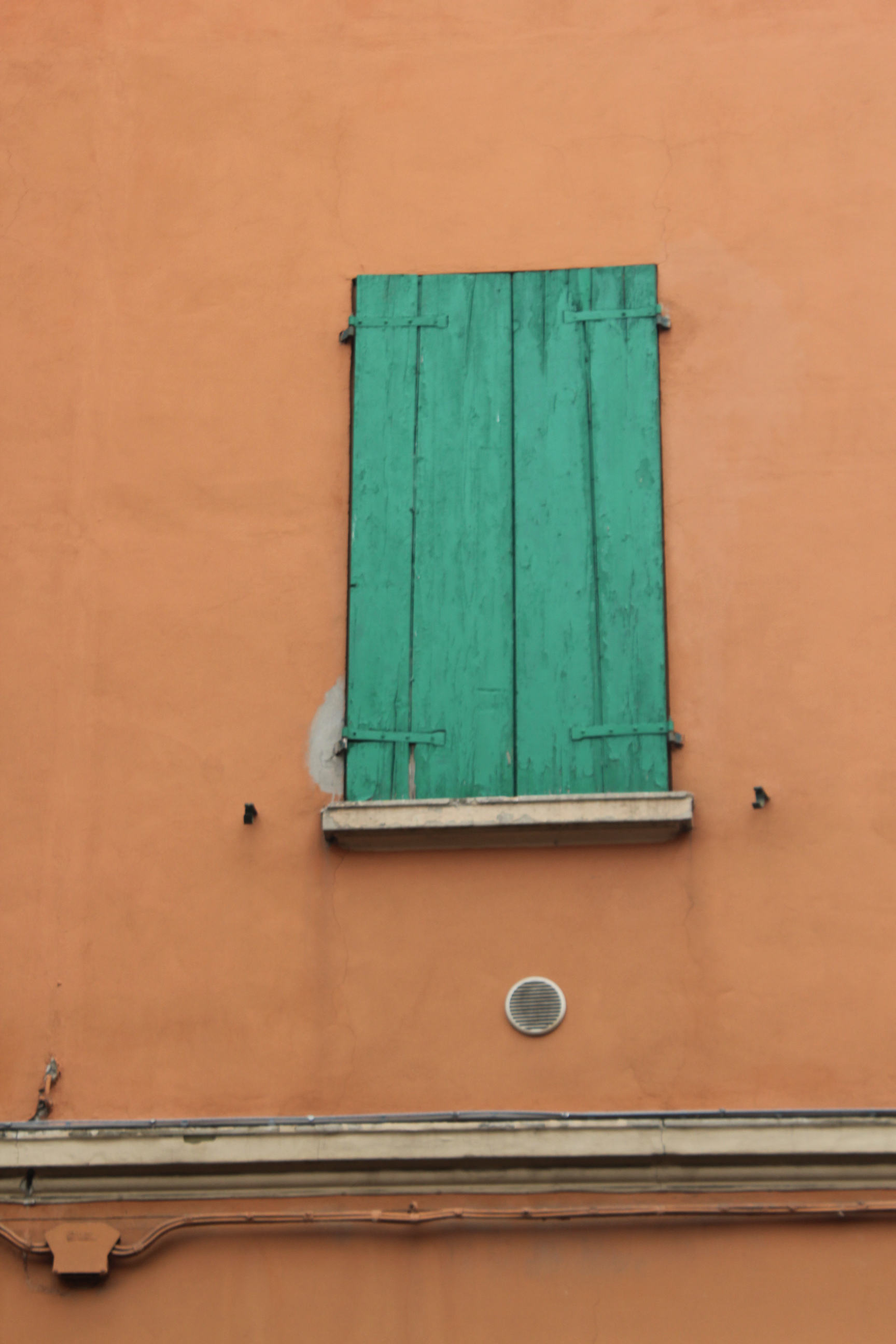 Bologna Italy Green Window Color Palette