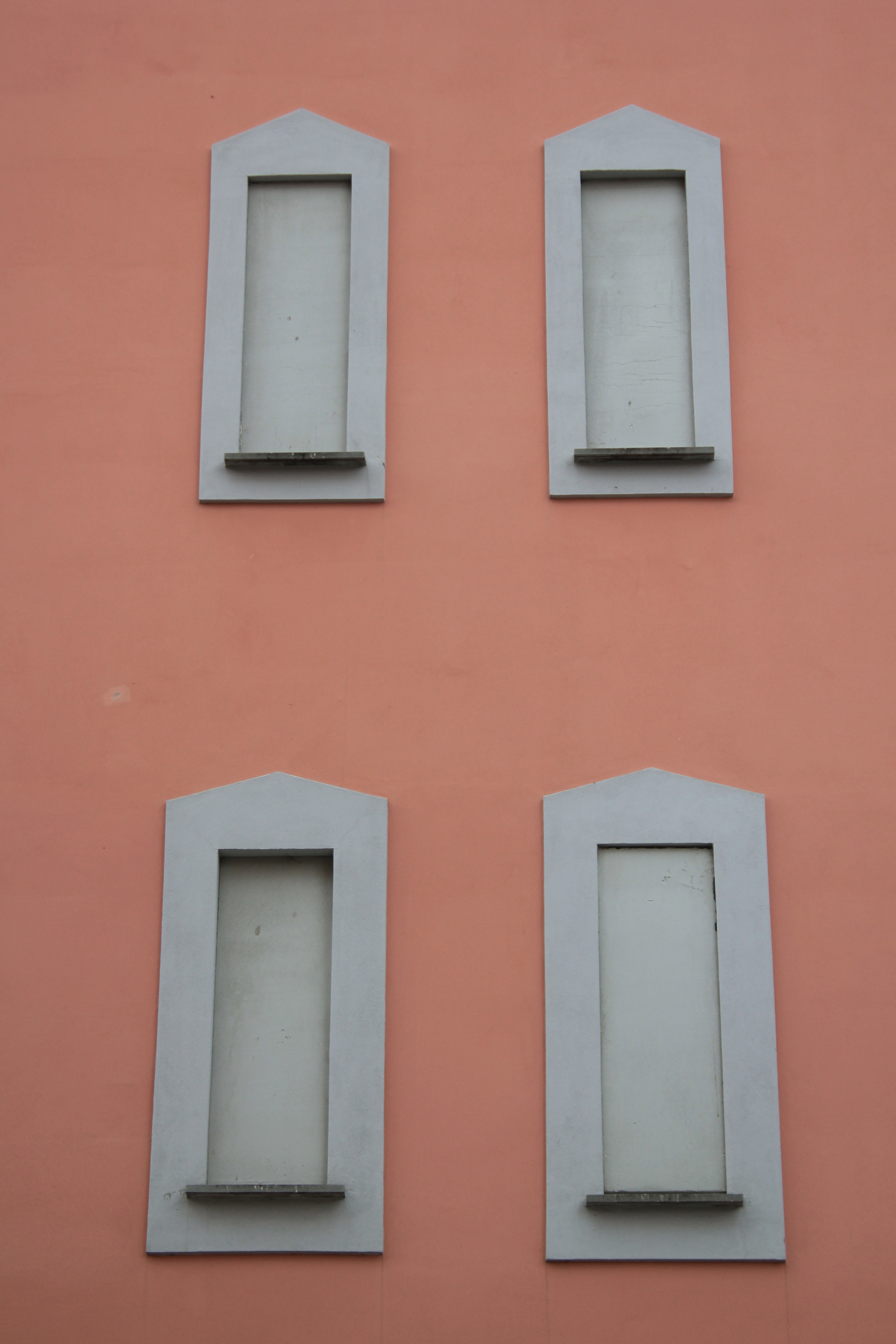 Bologna Italy Pink Building Grey Windows