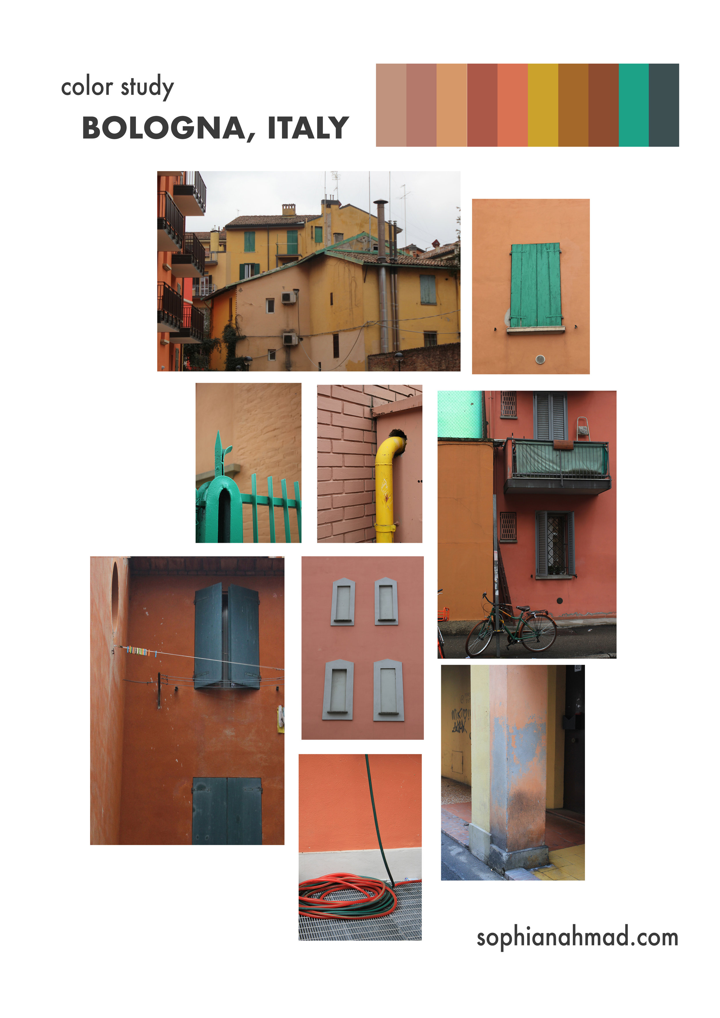Bologna Italy Color Palette Color Study