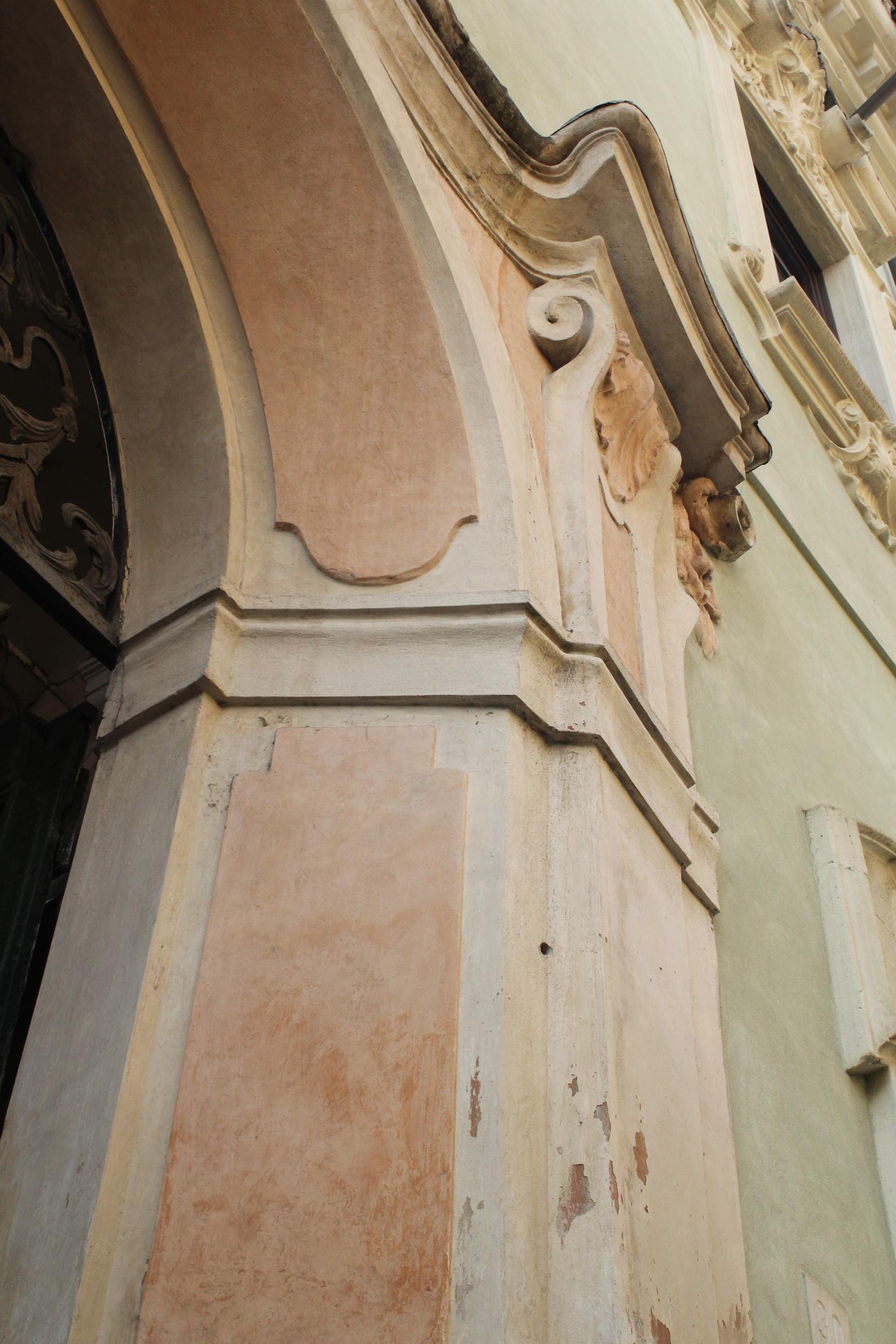 Cremona Italy Green Orange Pastel Architecture Detail