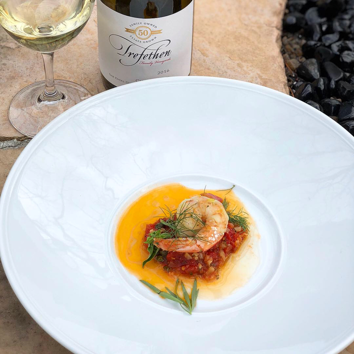 Grilled Shrimp, Tomato, Caper & Basil -