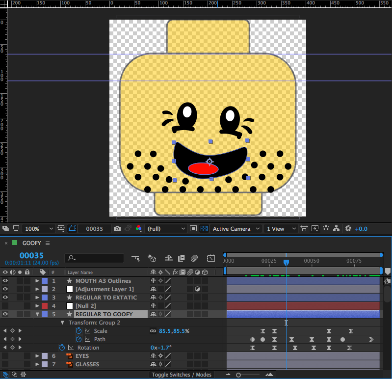 Players faces are animated on a Lego face template within the toolkit.