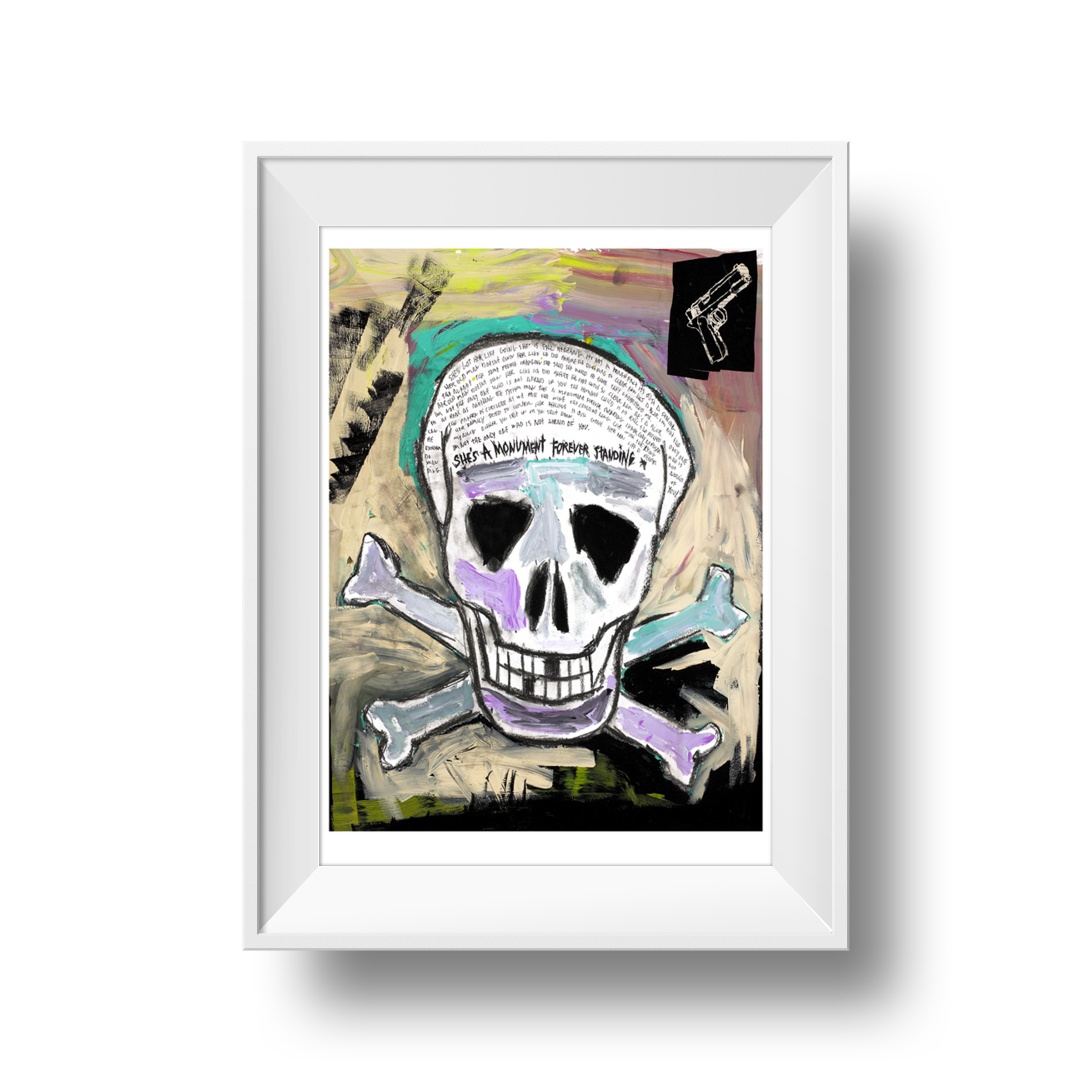 "Skull and Crossbones | Tim Armstrong | 18"" x 24"""