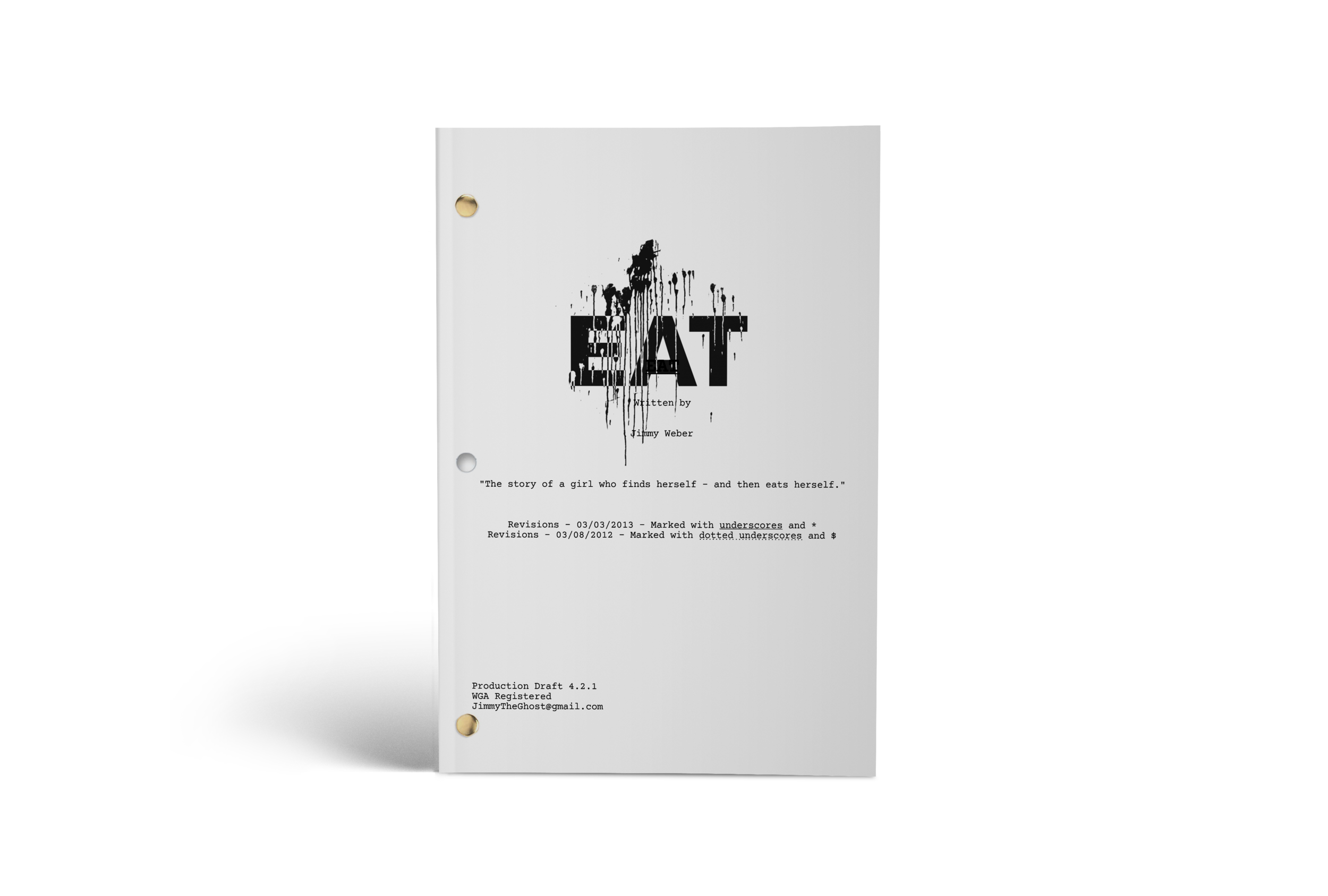 EAT - Final Production Draft. 101 Pages.