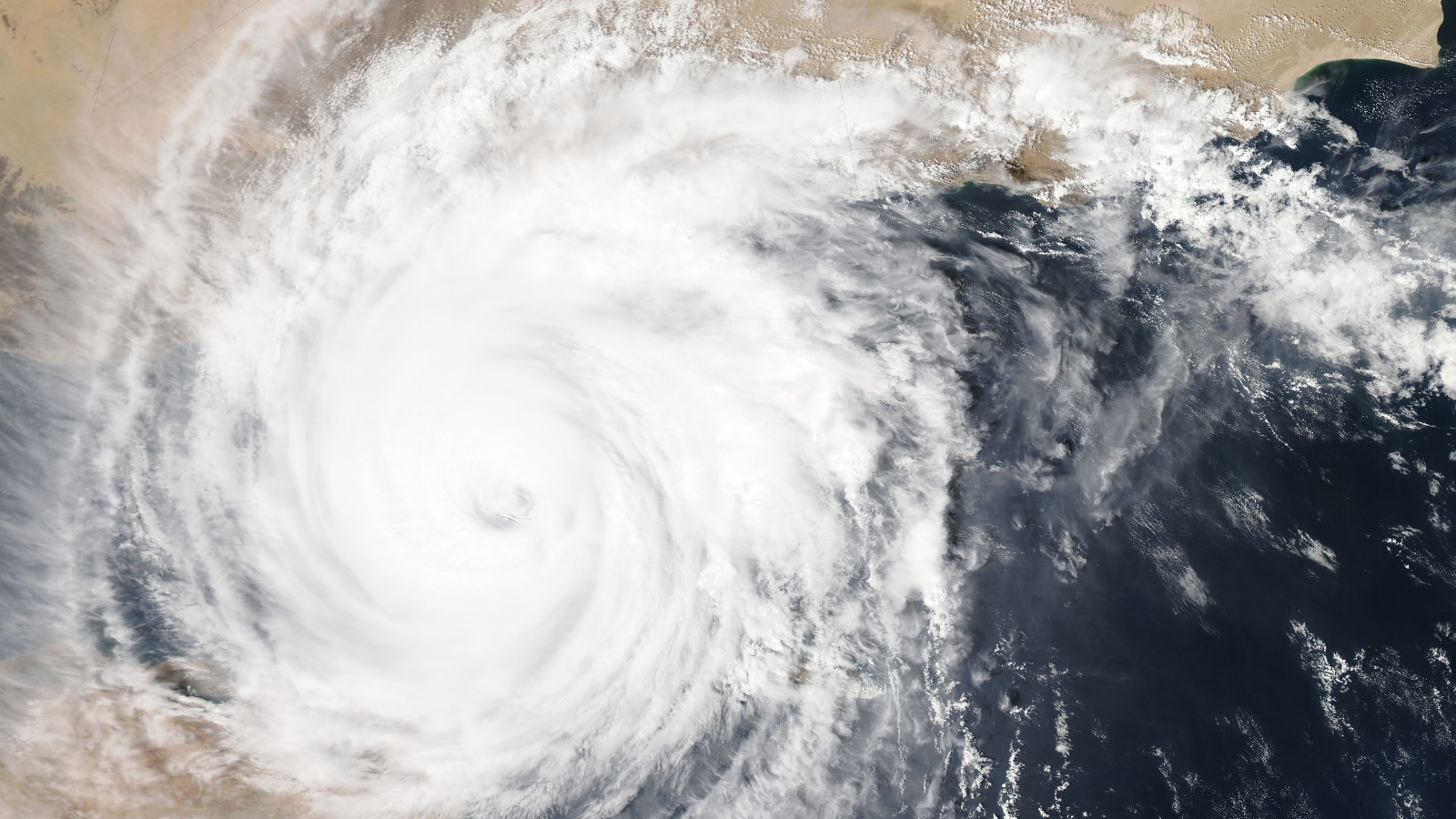 Hurricane over Yemen  Photo by Nasa