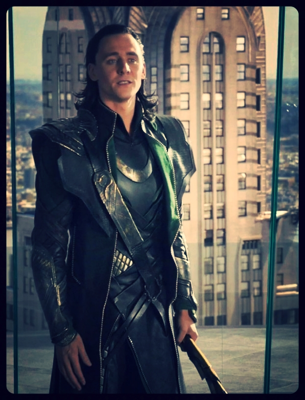 Inspiration: Tom Hiddleston's costume in  Avengers, 2012  ( mostly black with touches of green and gold)