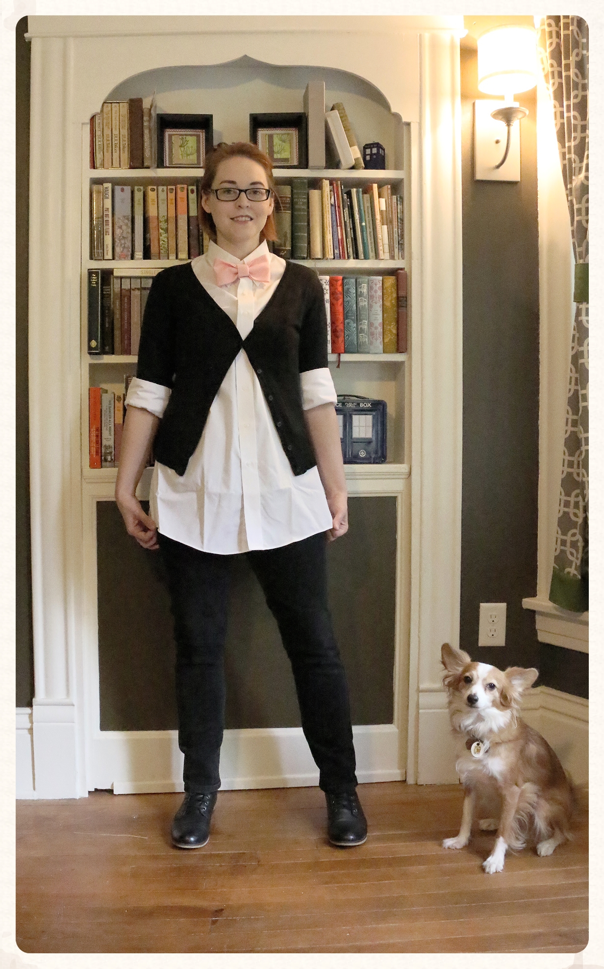 The complete look. Also - as you are probably realizing my dog loves to photo bombs.