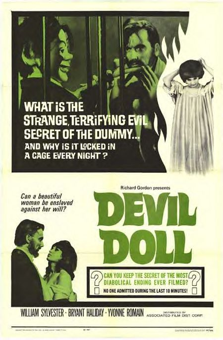 Vintage poster for Devil Doll (1964)