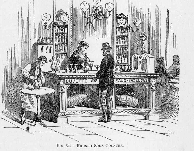 Early French Soda Foundation Illustration