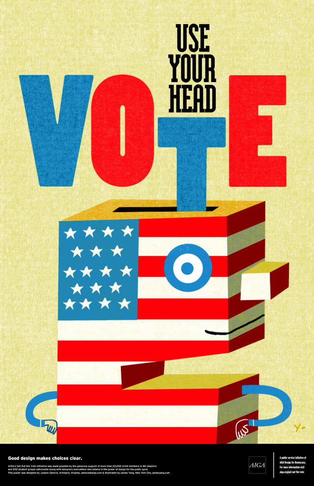 Use Your Head, Designed by Joanne Zamore and illustrated by James Yang.