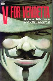 The cover of Alan Moore's V For Vedetta