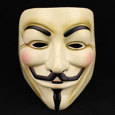 Guy Fawkes masks have become a symbol of anarchy and rebelling in today's society