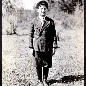James Castle at age 11 in Garden Valley, ID (circa 1910). The photographer reputedly was Castle's older sister Nellie. Photo credit: Idaho Center for the Book courtesy of  Boise State University