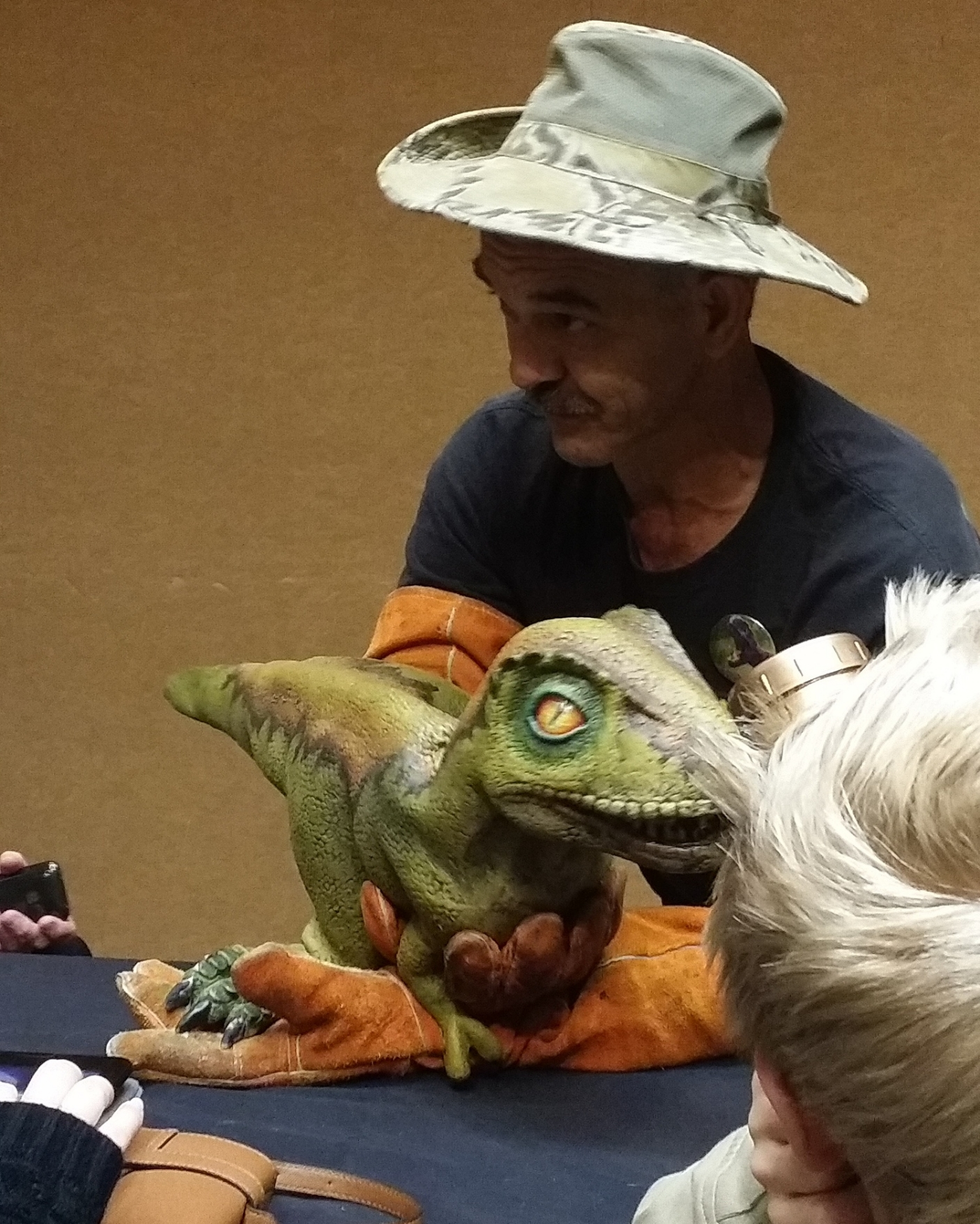 At a panel, I  met a baby T-Rex courtesy of  Dakota and Friends .