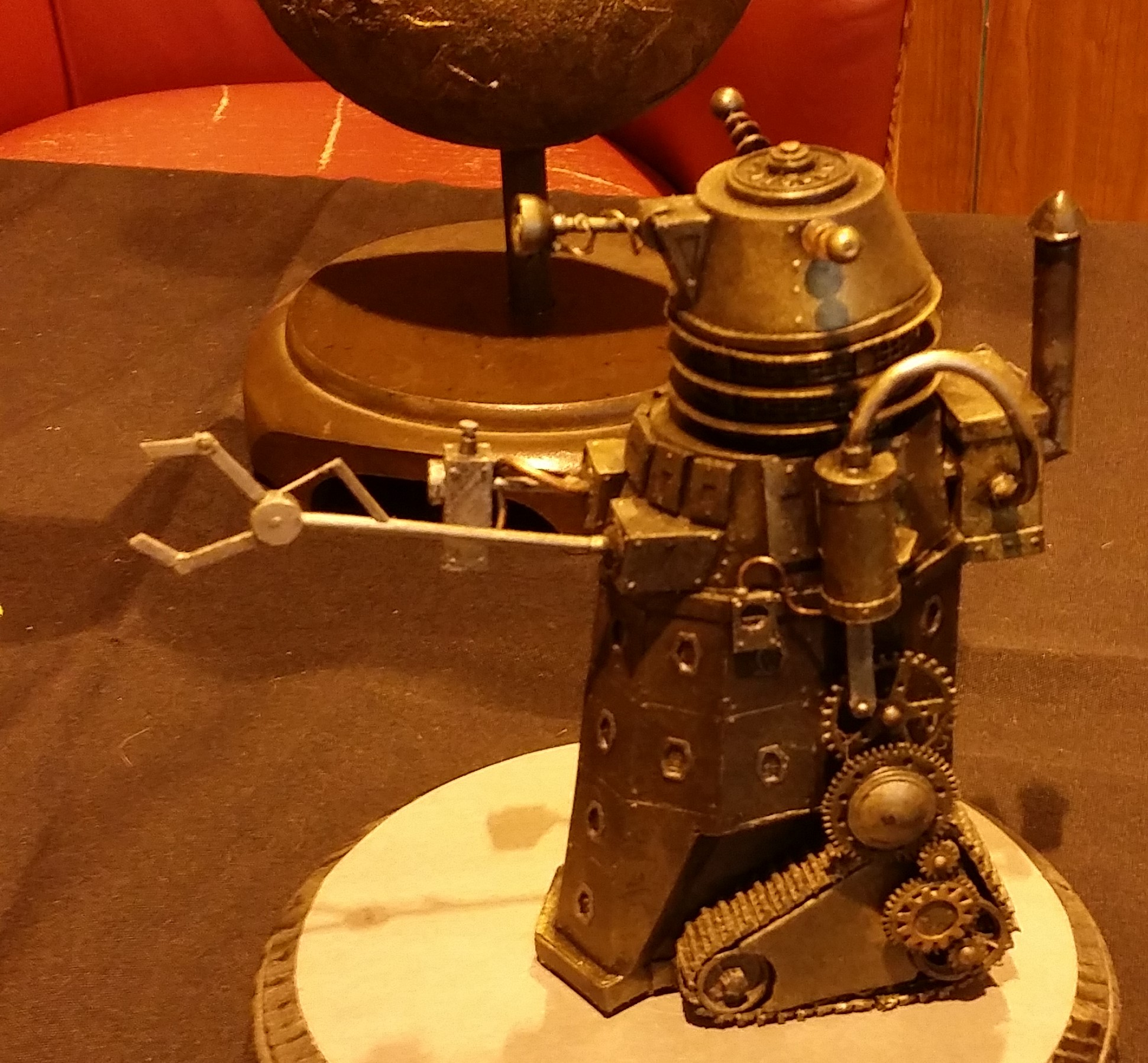 Creativity can take traditional forms - ask you can see with this steampunk metal Dalek sculpture.