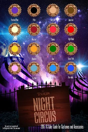 "They have already released one of the two color palate guides - for Night Circus,   ""SATURDAY NIGHT PORTION. They promise the ""Texas Palate"" is coming soon."