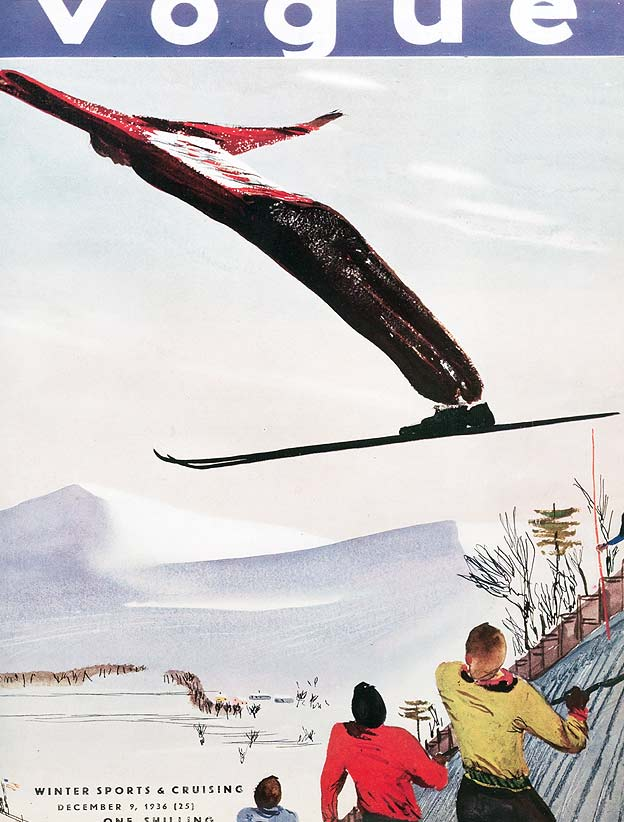 Unknown Illustrator. Vogue, December 1936.