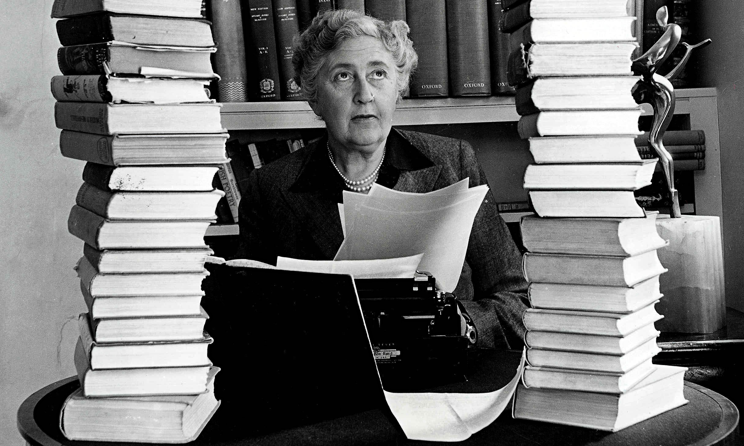 Agatha Christie. Photograph: Popperfoto/Popperfoto/Getty Images via  The Guardian .
