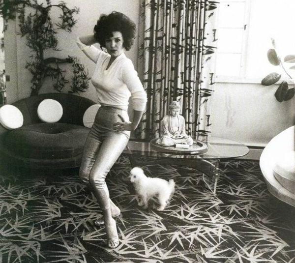 Cropped photograph by Diane Arbus