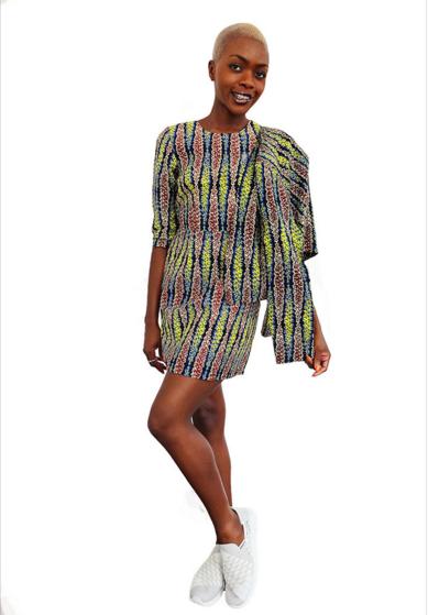 Coral Long Sleeve Shift Dress – Mayamiko.png