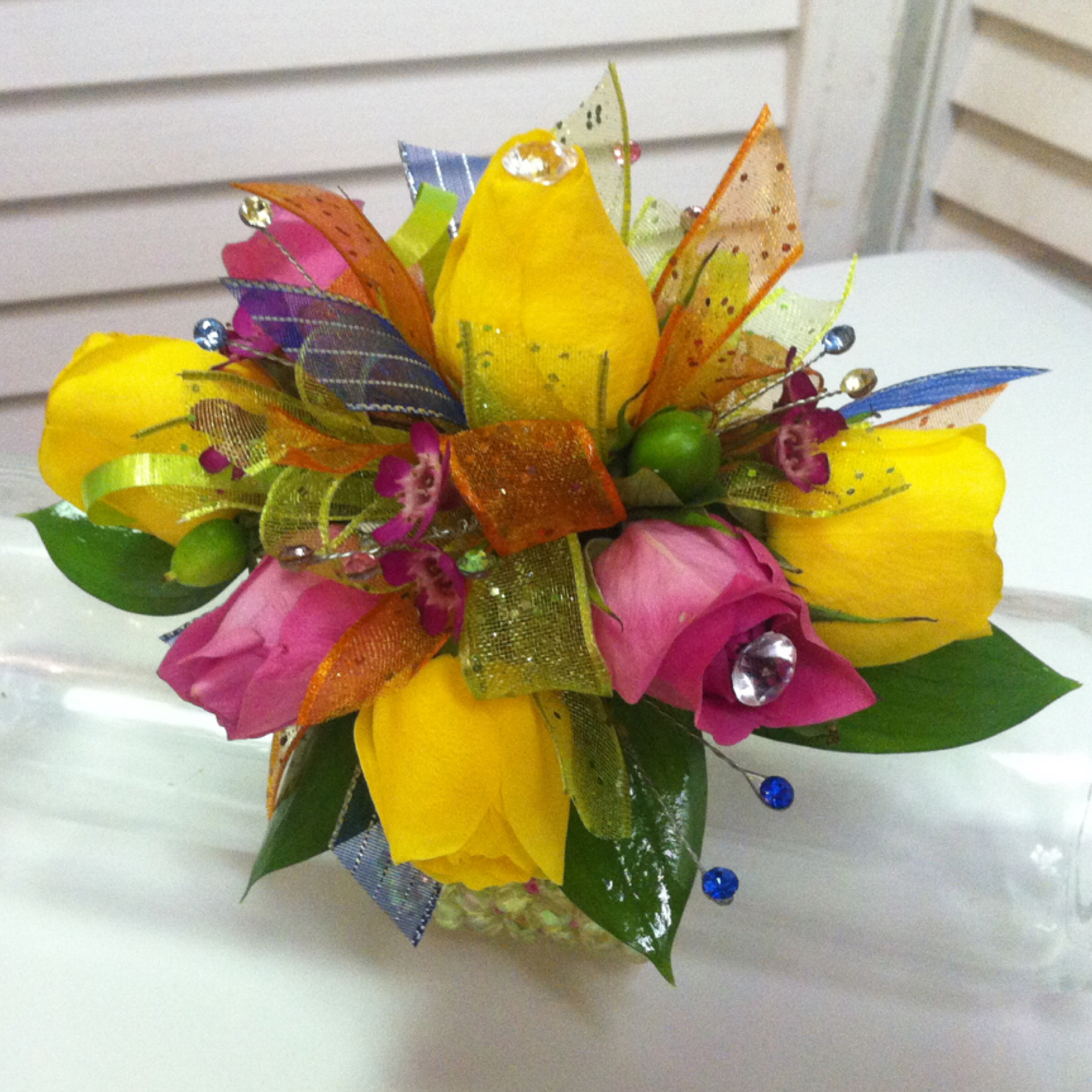 Plus Corsage (30) with Extra Flowers (5) and Upgraded Bow (2) $37