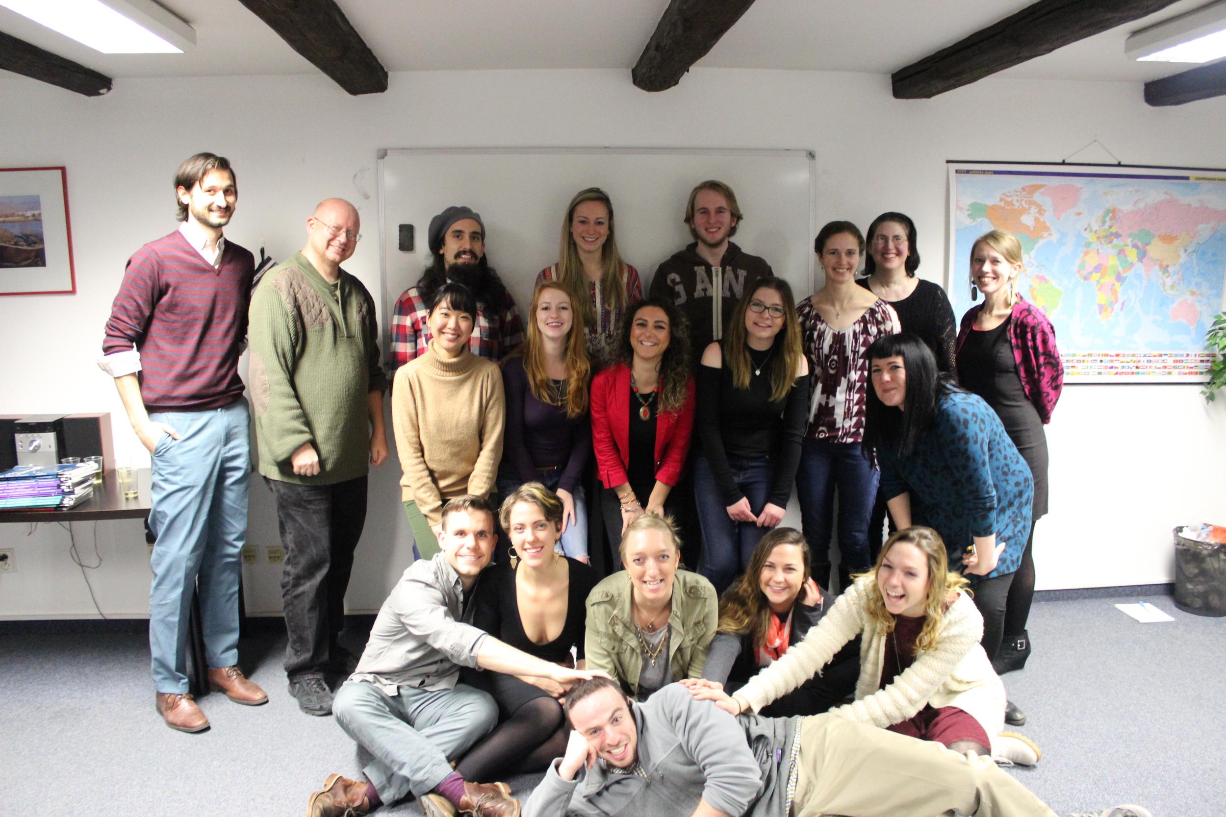 Our graduating class from TEFL Worldwide Prague