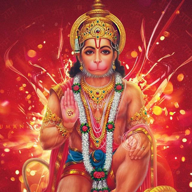 Hanuman - studying the Rayamana