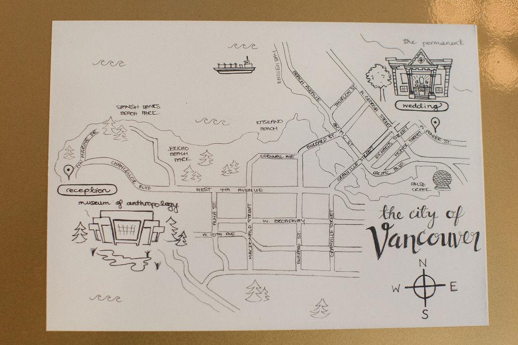 Keepsake Events Vancouver Wedding Map