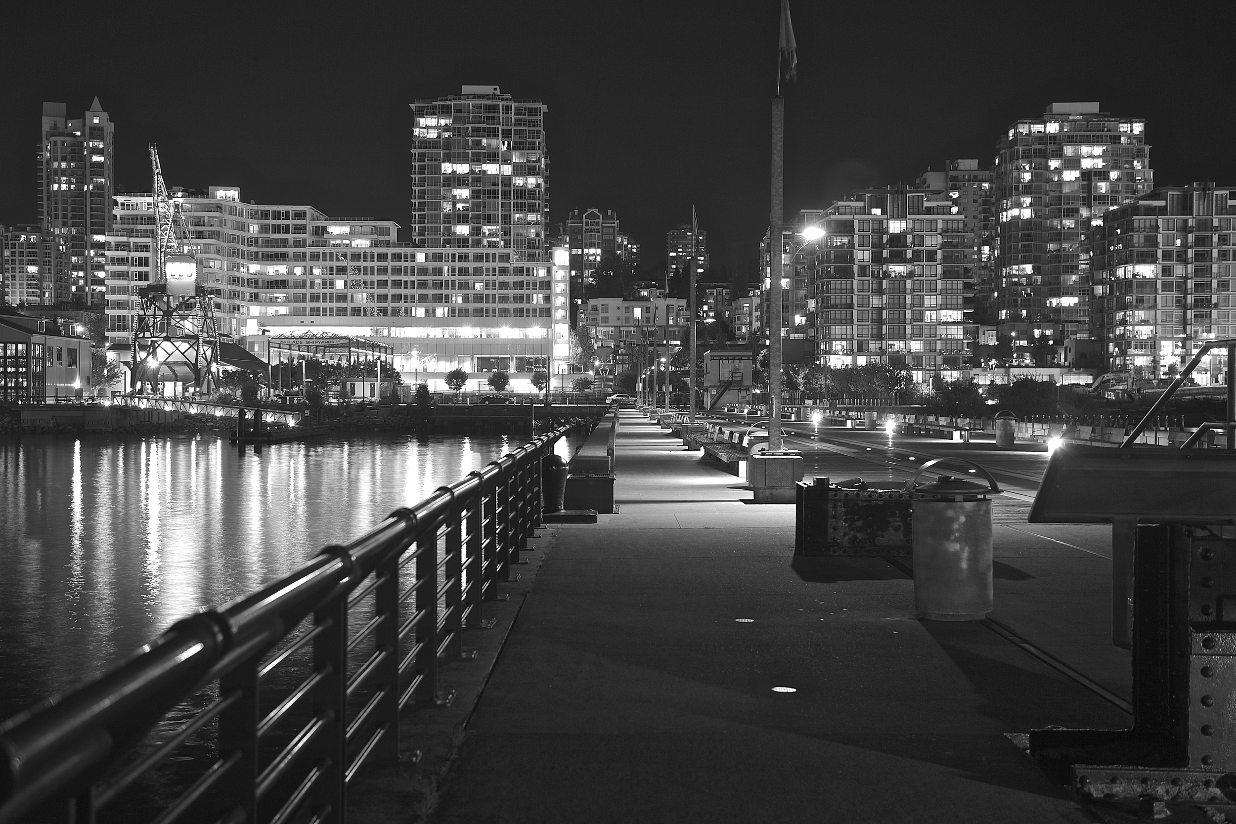 Midnight photo walk after in Lonsdale Quay!