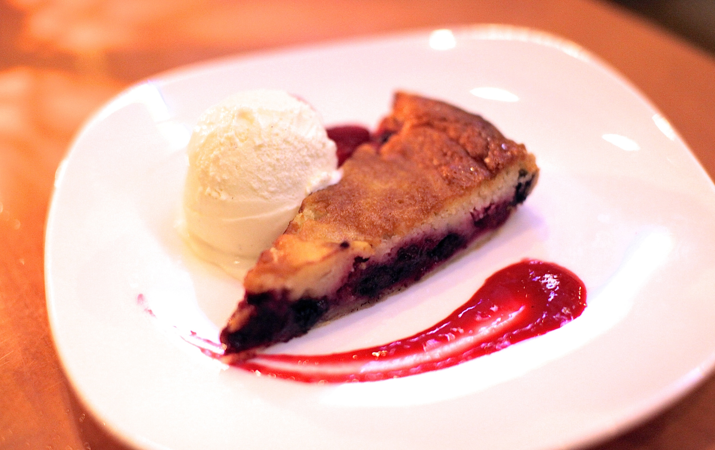 Berry and White Chocolate Clafoutis $6