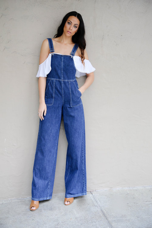 Alicia Jay TallSWAG Tall Women Taller Than Your Average for Long Tall Sally Spring 2016 Confidence Overalls Long Denim Jumpsuit Bobble Crop Top Inseam 3.jpg