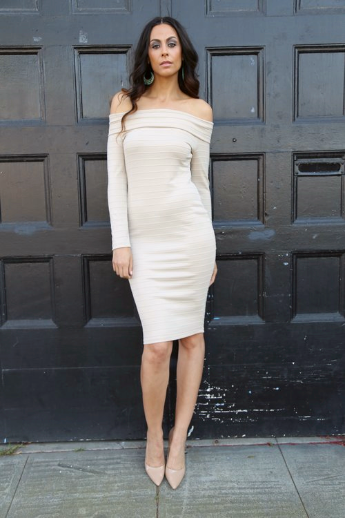 Marilyn Dress - Alloy Apparel Tall Shop /Neutral Pumps - Jessica Simpson via Nordstrom Rack (size 12)/Earrings - Charlotte Russe  Photo Credit:  LaKeela Smith