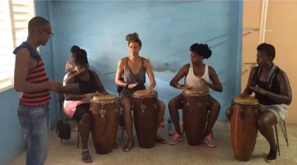 I had my first Congo drum and salsa dance lessons in Santiago. We all played pretty well together considering it was all of our first time on this instrument. Thanks to our friend Yoelvis, we probably had the most authentic classes we could get in Cuba with professor Yester. Check out the video of us drumming by clicking the photo.