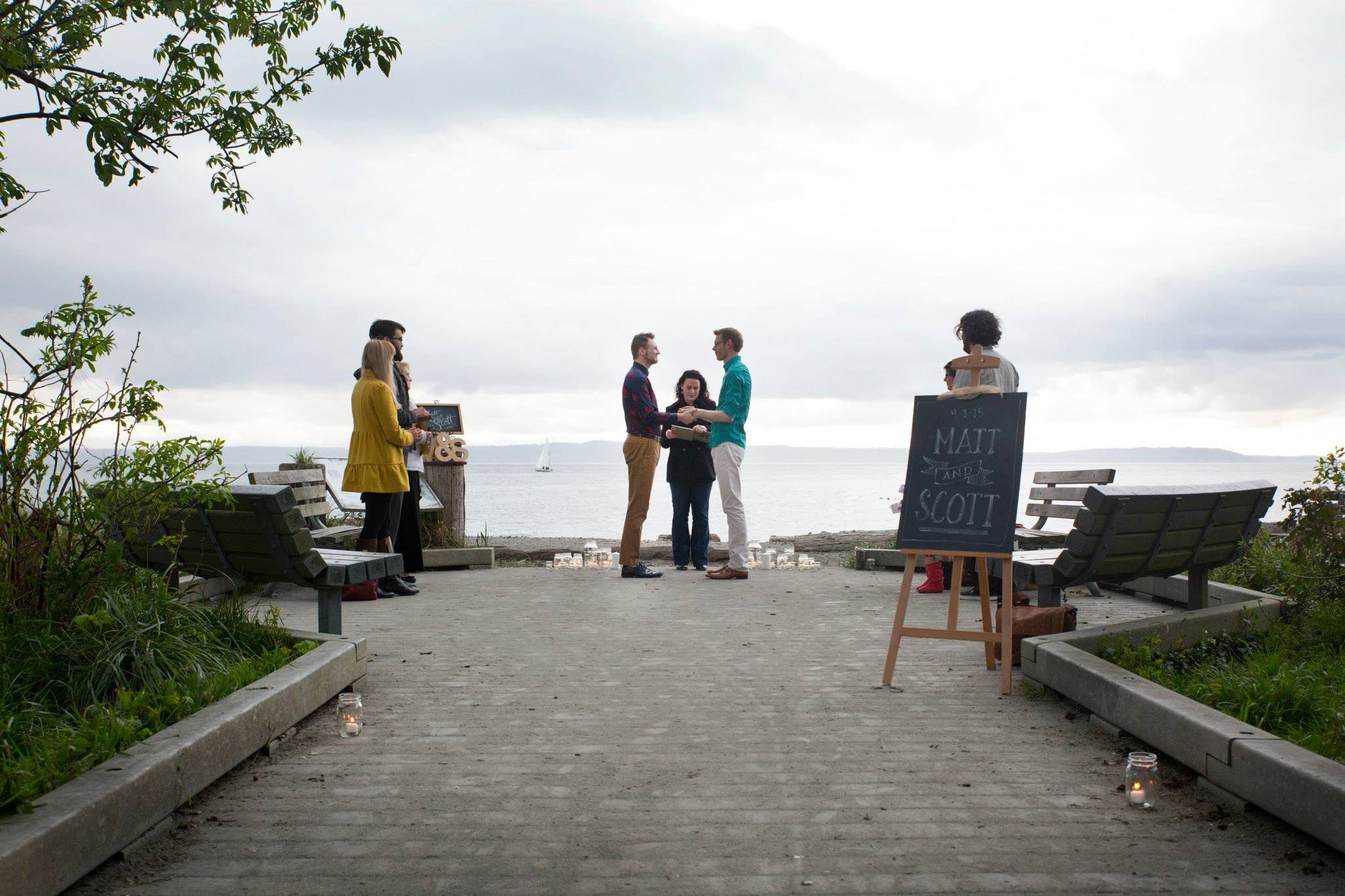 The lovely wedding location at Golden Gardens Park