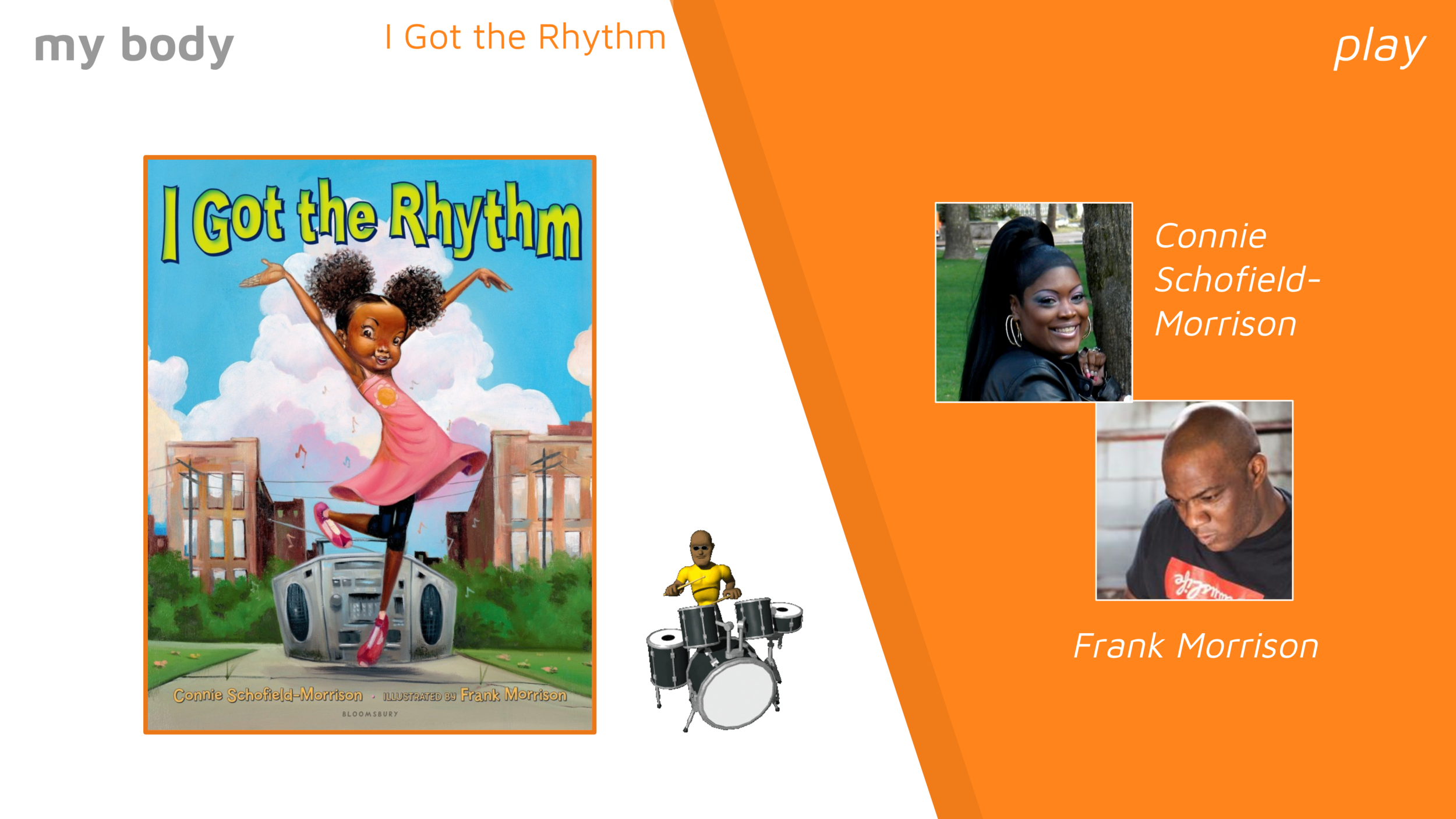 Fun book, and great pictures! We practice the rhythm first, then they're more comfortable to jump in during the story.