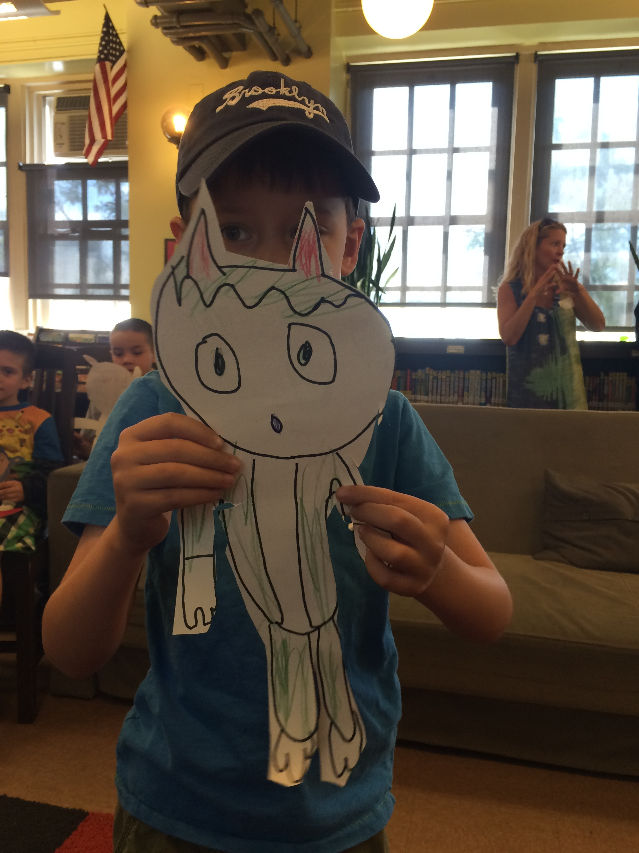 """One first grade class came to the library with their own handmade imaginary friend.This is """"Gary"""" Mary's boyfriend."""