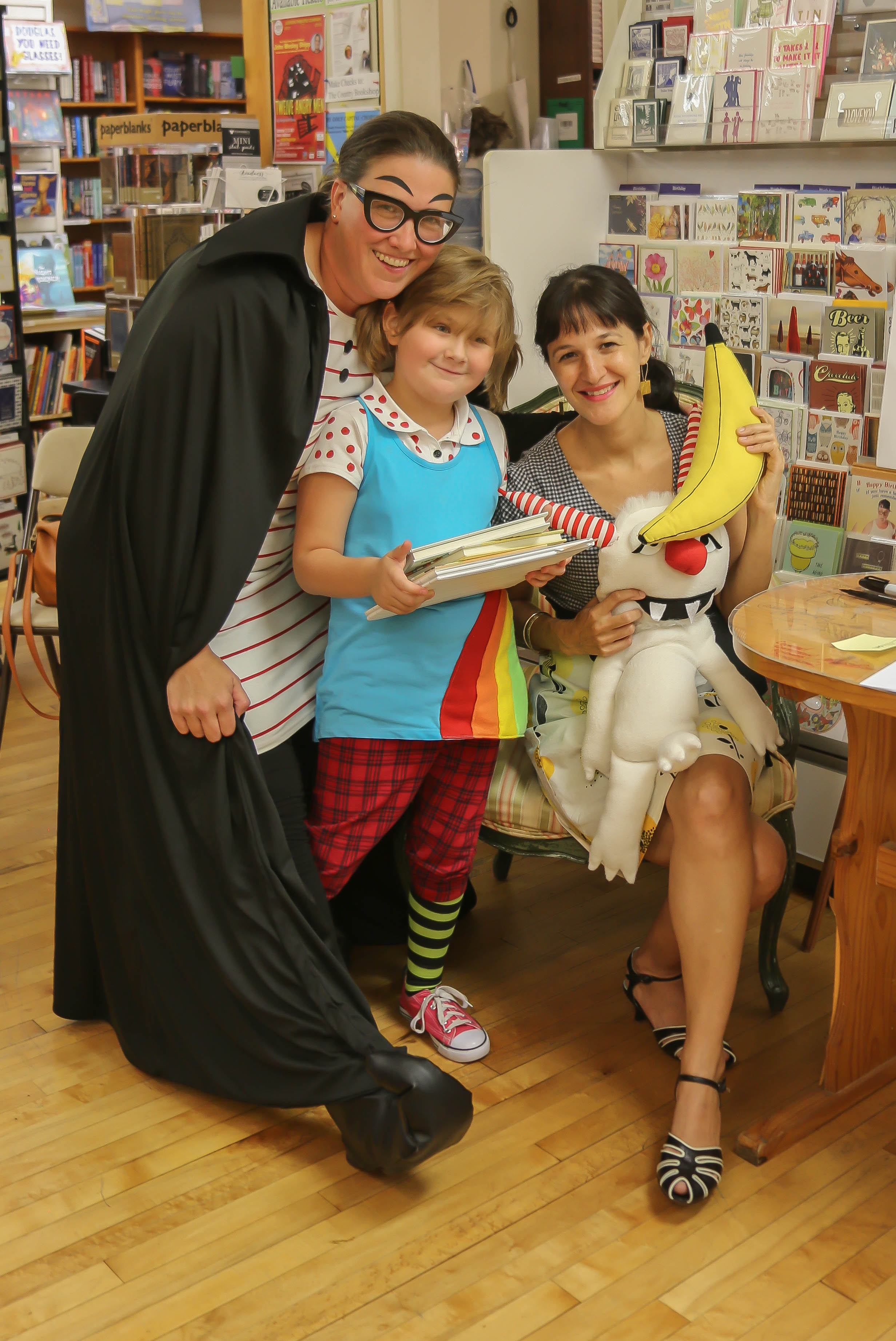 And look who came to The Country Bookshop!!!! Thank you Katherine and Rainer for bringing these characters to life. What a terrific surprise for everyone. It was a thrill to meet such creative and devoted fans of the Dory series.
