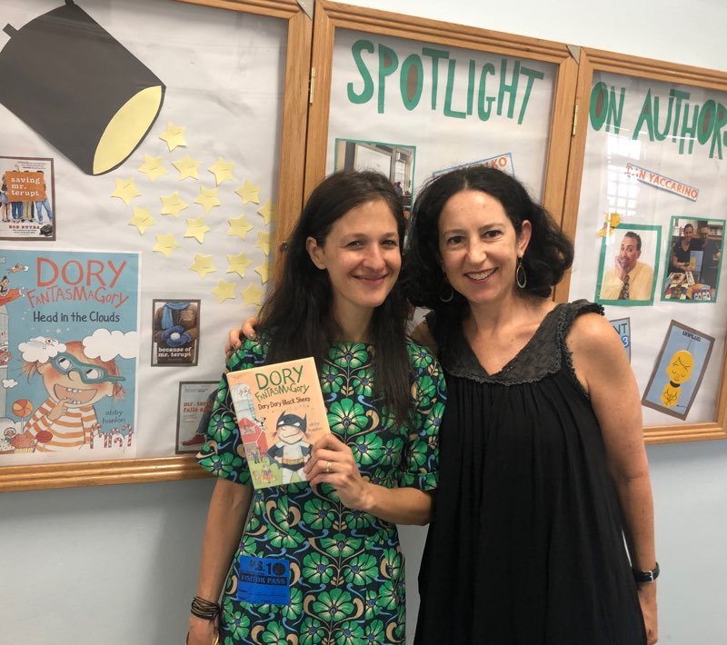 At PS 10 with friend, author/illustrator, Selina Alko.