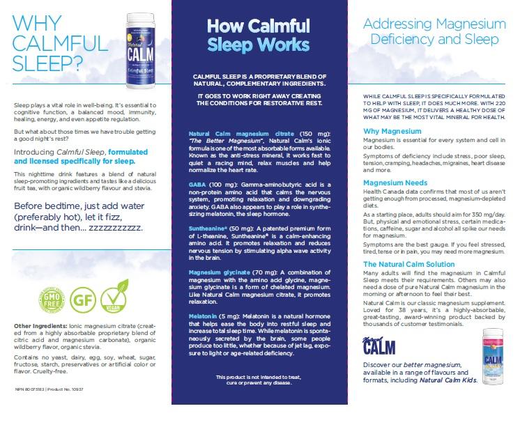 Trifold brochure - reverse