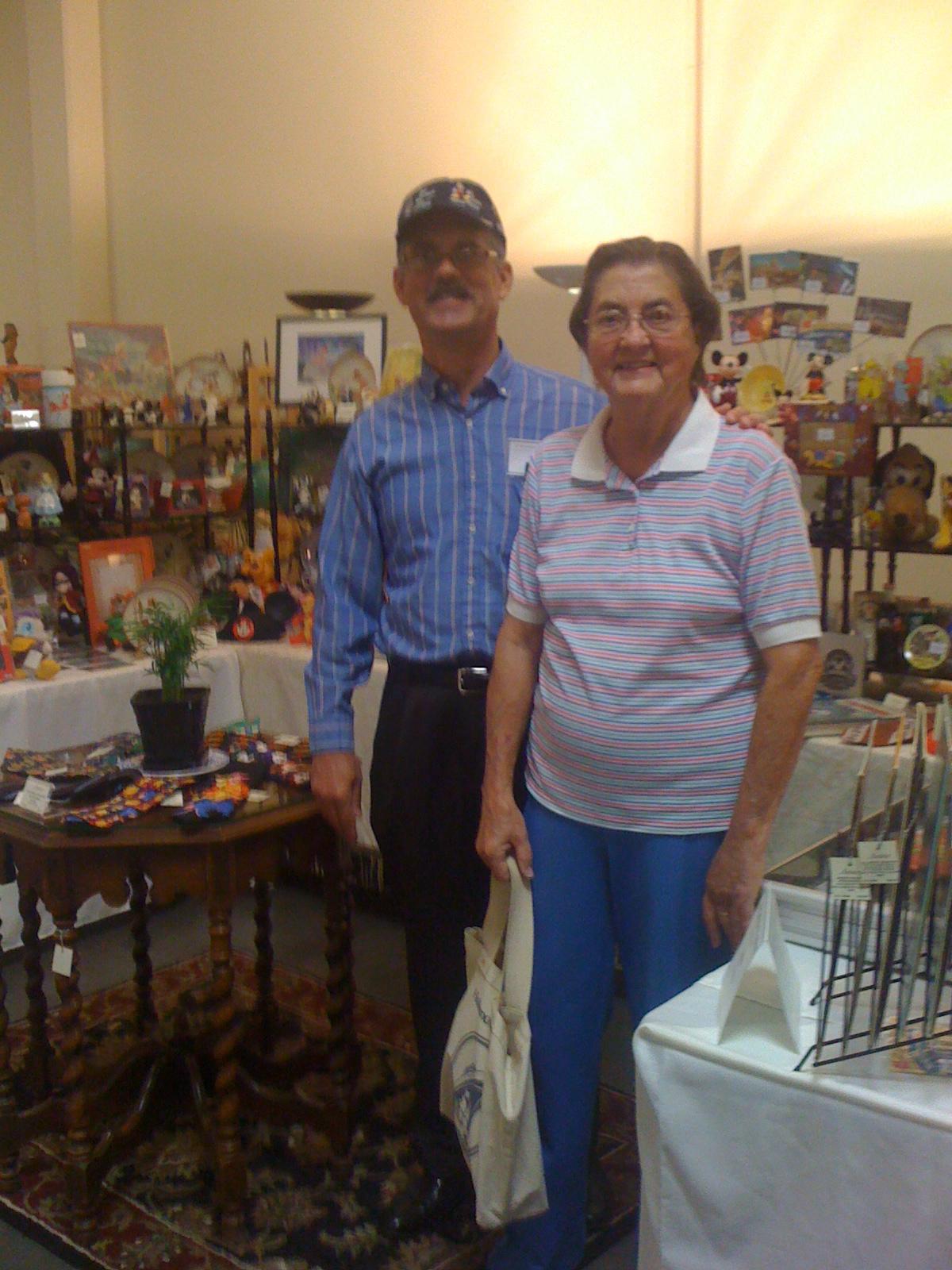 Chuck Pansarosa & his mother, Bobbie.  May 20, 2011.  Serendipity Antique Show.  Fresno, California