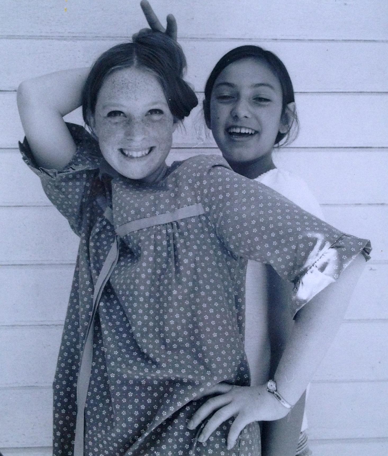 Judith O'Donnell & her best friend, Janette. 1969. Manhattan Beach, California.