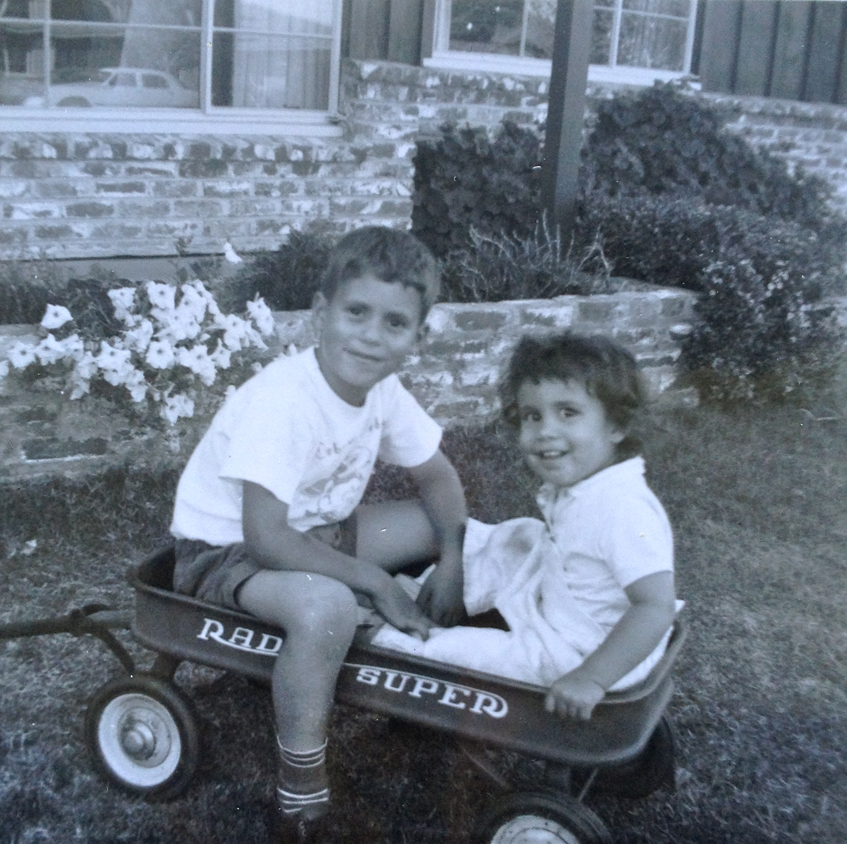 Chuck with his little sister, Cathy.  Fresno. 1959.