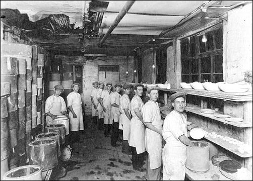 The firm of John Maddock was originally founded in the 1830s. Perhaps one of these hard-working young men helped to make the demitasse cup and saucer we offer for sale.